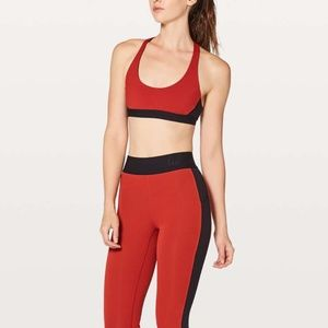 Lululemon Box It Out Tight + Bra in Red/Black
